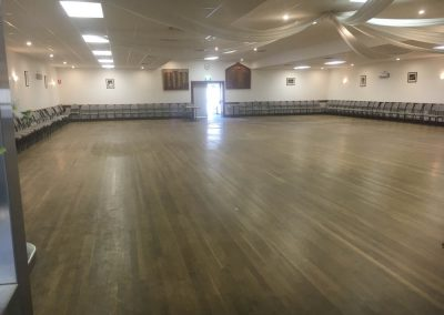 Hall floor being re-sanded and polished in Findon