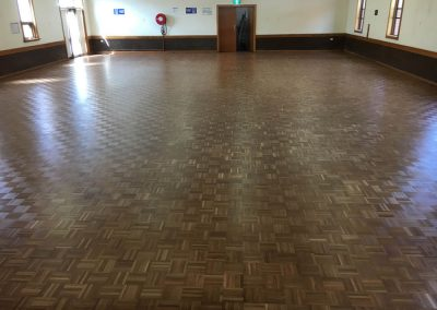 A hall floor sanded and polished in West Croydon - After